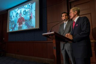 Astronaut Tom Marshburn tells Senate officials what life is like in space from aboard the International Space Station.