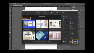Download InDesign: screenshot of user interface