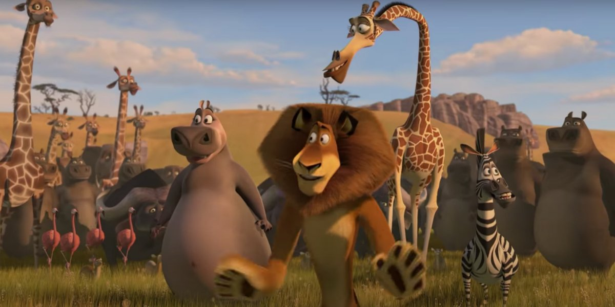 The cast of Madagascar: Escape 2 Africa