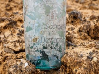A glass expert found the bottles would have held a variety of drinks, including alcoholic beverages such as gin, liqueur and whiskey.