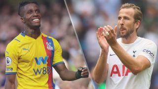 Crystal Palace vs Tottenham Hotspur live stream — Wilfried Zaha of Crystal Palace and Harry Kane of Tottenham Hotspur