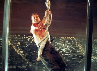 Die Hard - Bruce Willis Hanging Tough