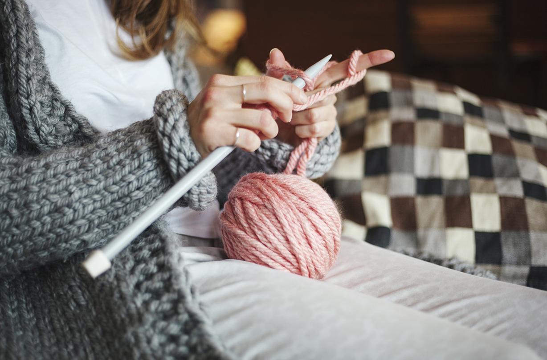 calming hobby self isolation knitting sets