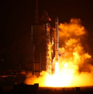 Chinese Long March 3A Rocket Lift Off December 2, 2011