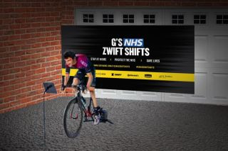 Geraint Thomas will ride on Zwift for three 12-hour shifts to raise funds for the NHS