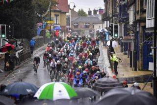 Rain fell on the elite men's road road race at the UCI road world championships