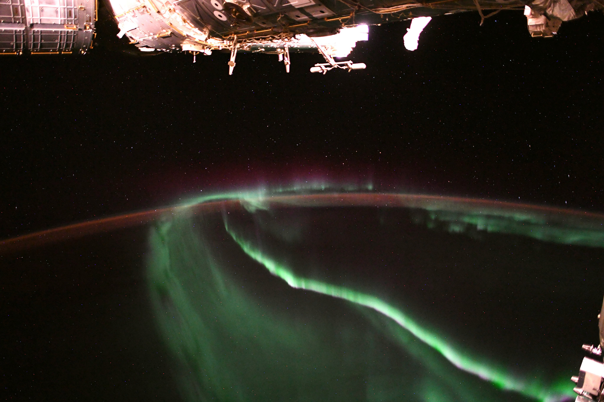 From space picture Aurora