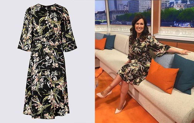 115e8febdef2 The 47-year-old is clearly favouring the floral trend as summer draws in –  and of course, Marks & Spencer too! The presenter picked yet another design  from ...