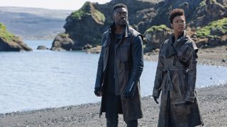 "David Ajala as Book and Sonequa Martin-Green as Burnham in ""Star Trek: Discovery"" on CBS All Access."