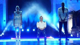 Kenadi Dodds, Alan Silva, and Brandon Leake in the season 15 finale of NBC's 'America's Got Talent'
