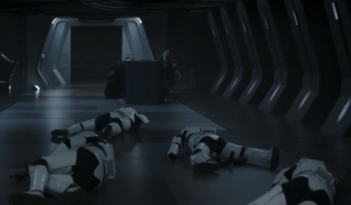 the mandalorian storm troopers knocked out disney+ screenshot