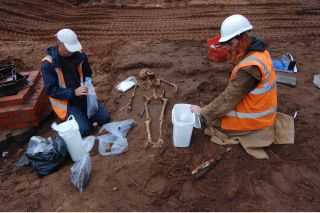 Gritty excavation, warwickshire, medieval skeletons
