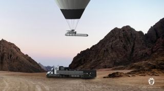California-based startup Leo Aerospace is developing a small-satellite launch system employing a rocket and a big hot-air balloon. The system will be mobile, capable of launching off the back of a semitruck.
