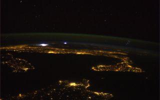 Mediterranean Pleiades Storm Parmitano ISS