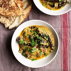 This creamy aubergine and coconut curry will become a big favourite aubergine recipe