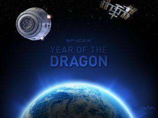 The private spaceship company Space Exploration Technologies (SpaceX) released this image to mark the Year of the Dragon on Jan. 23, 2012 on Chinese New Year. SpaceX's space capsule design is called Dragon.