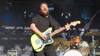 Tim McTague of Underoath performing live