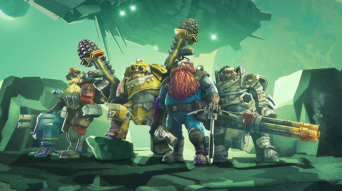 Deep Rock Galactic update adds new mission type, makes beards more glorious