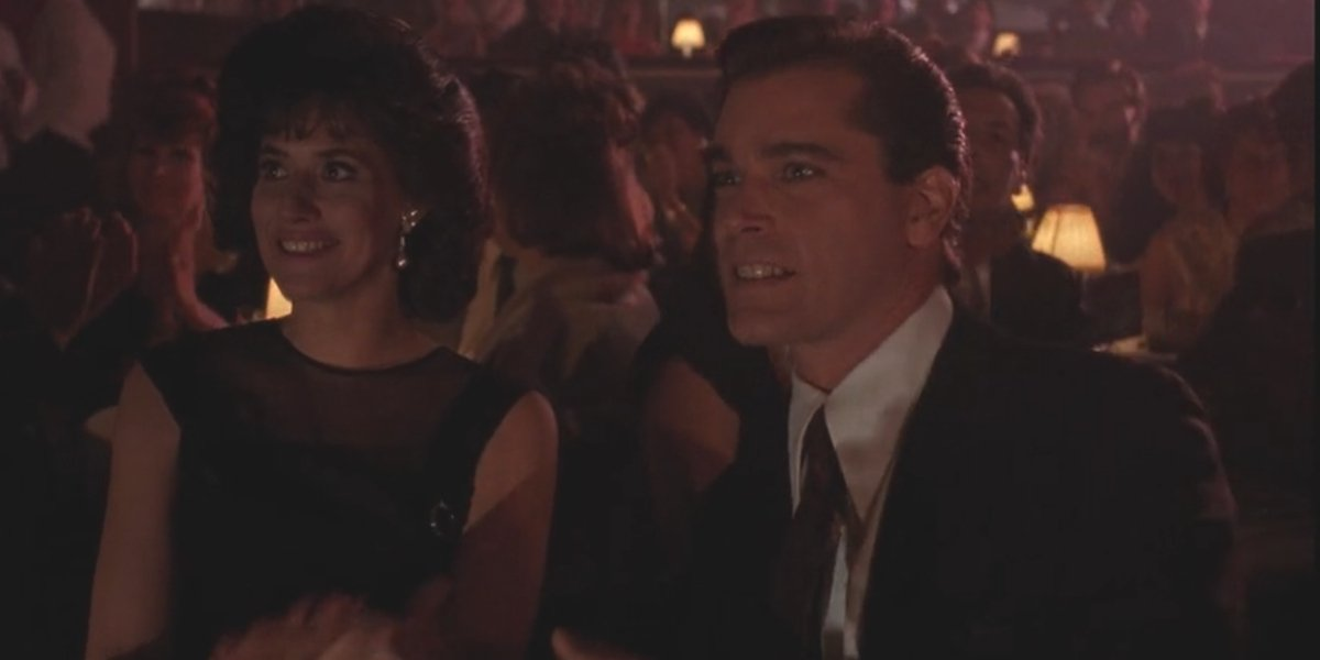 Lorraine Bracco and Ray Liotta in Goodfellas
