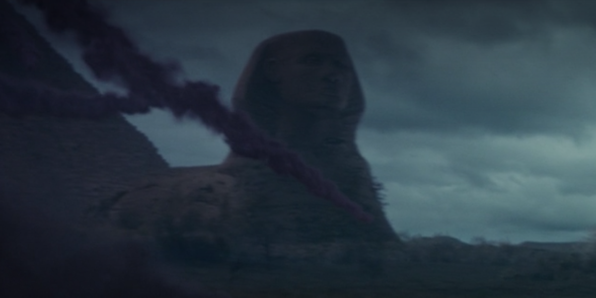 sphinx with nose still on in loki episode 5