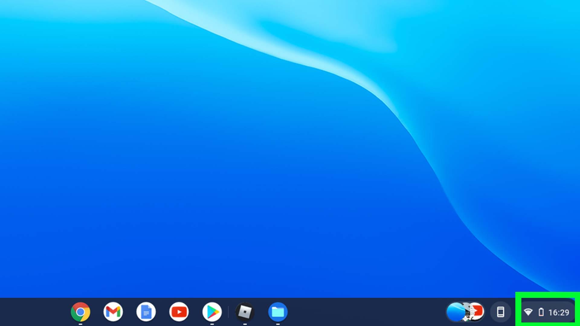 Cómo reiniciar un Chromebook - sección de notificaciones