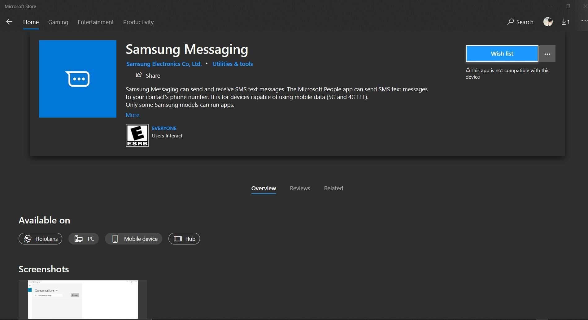 Samsung Messaging