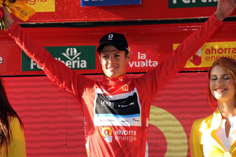Jakob Fuglsang takes lead, Vuelta a Espana 2011, stage one TTT