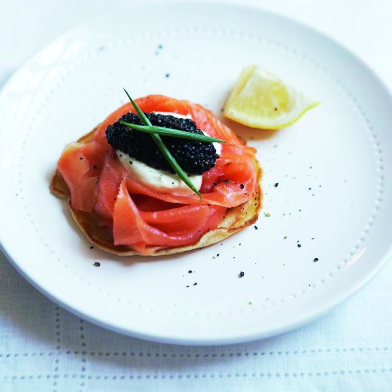 Giant Blinis with Smoked Salmon and Caviar recipe-recipe ideas-new recipes-woman and home