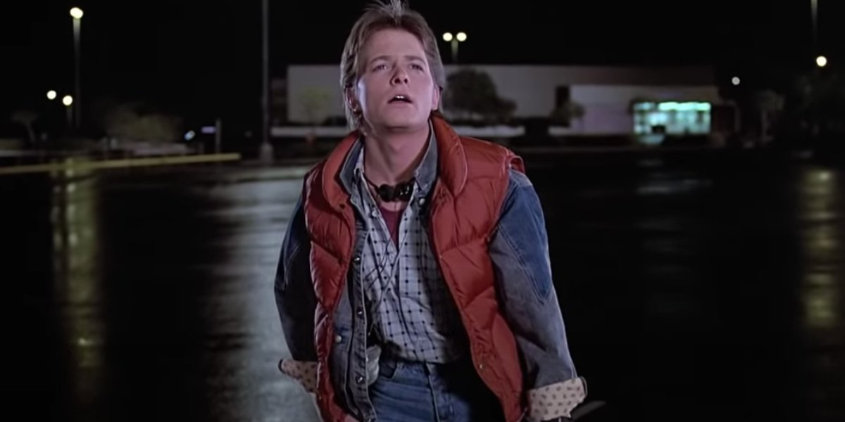 Michael J. Fox in Back To The Future