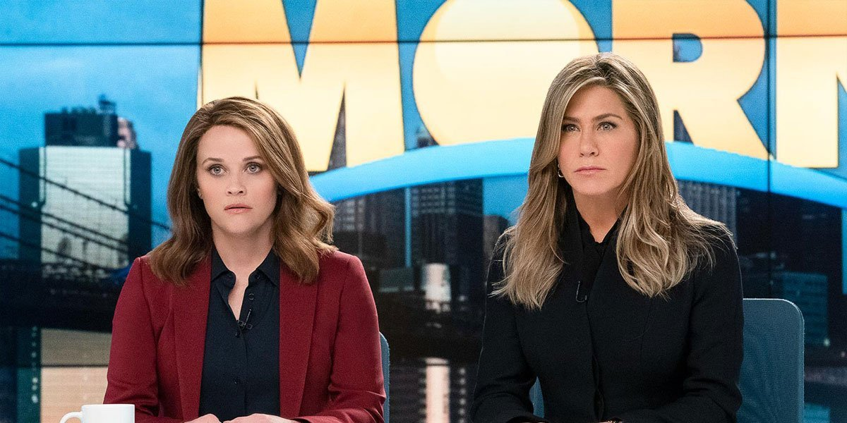 Jennifer Aniston and Reese Witherspoon in The Morning Show.