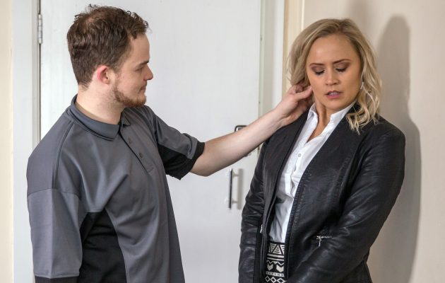 Indecent proposal! Tracy turns the tables on her blackmailer Phil who's expecting sex