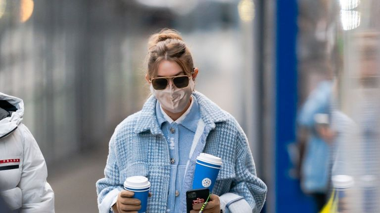 NEW YORK, NEW YORK - JANUARY 13: Gigi Hadid is seen in NoHo on January 13, 2021 in New York City. (Photo by Gotham/GC Images)