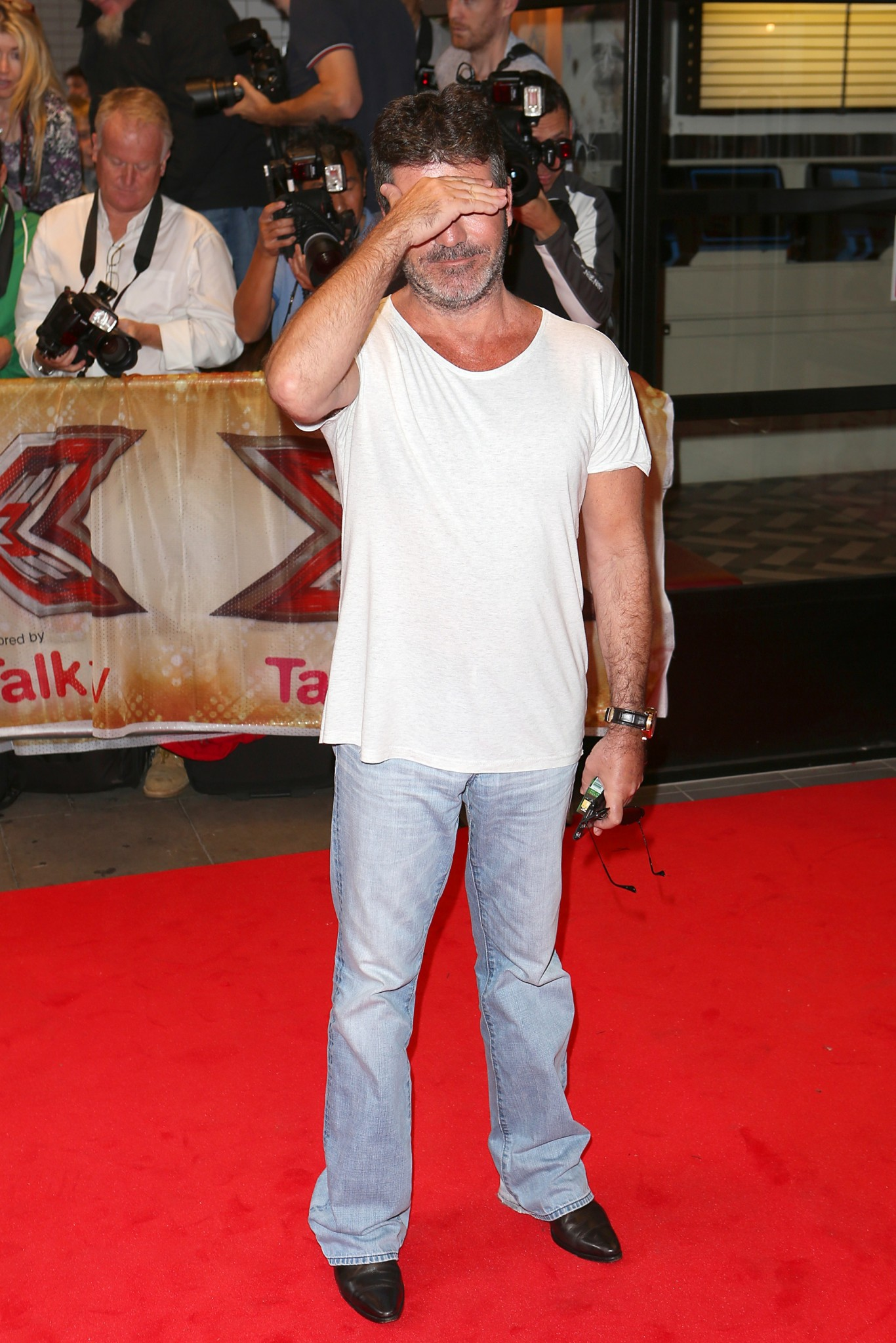 Simon Cowell on red carpet at X Factor launch