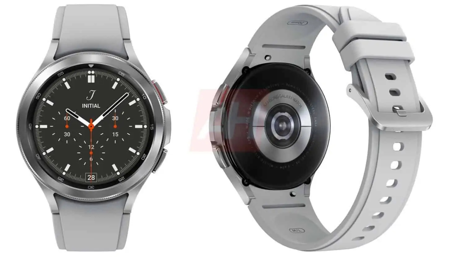 Leaked Samsung Galaxy Watch 4 Classic render showing it in grey