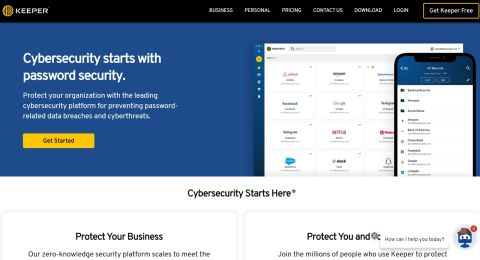 Keeper password manager review - Keeper's website