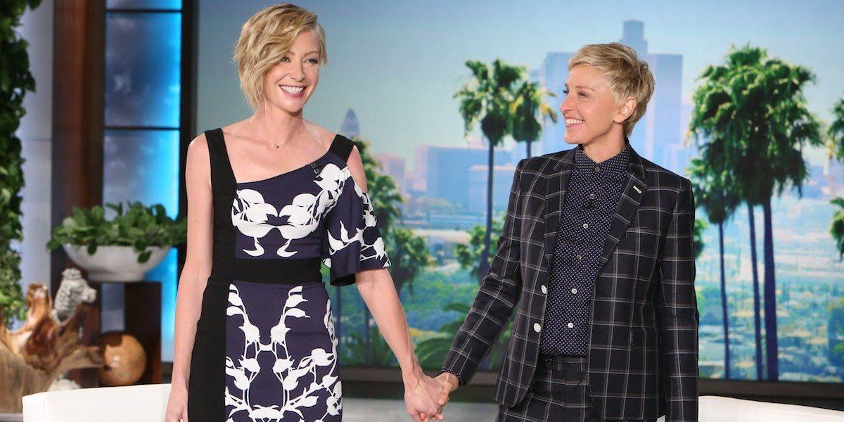 Portia de Rossi and Ellen DeGeneres on The Ellen DeGeneres Show