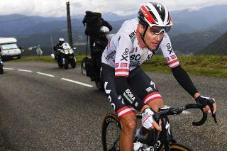 Patrick Konrad en route to his win on stage 16 at the Tour de France