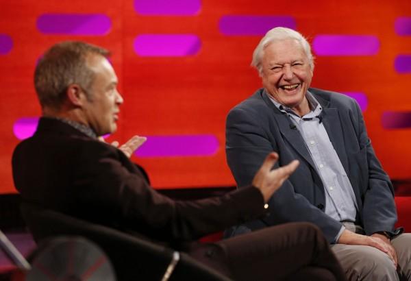 Graham Norton and Sir David Attenborough