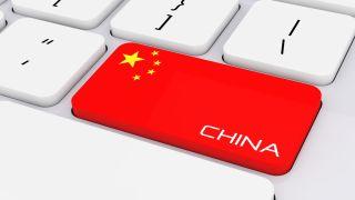 china flag on a computer keyboard
