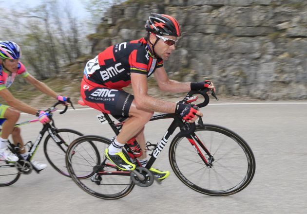 Cadel Evans chases, Giro del Trentino 2013, stage four