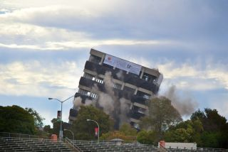 warren hall implodes
