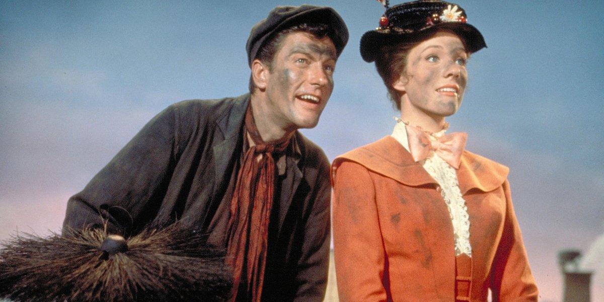 Julie Andrews and Dick Van Dyke in Marry Poppins