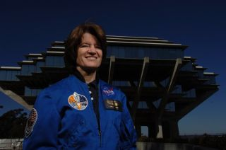 Sally Ride, the first American female astronaut to fly in space.