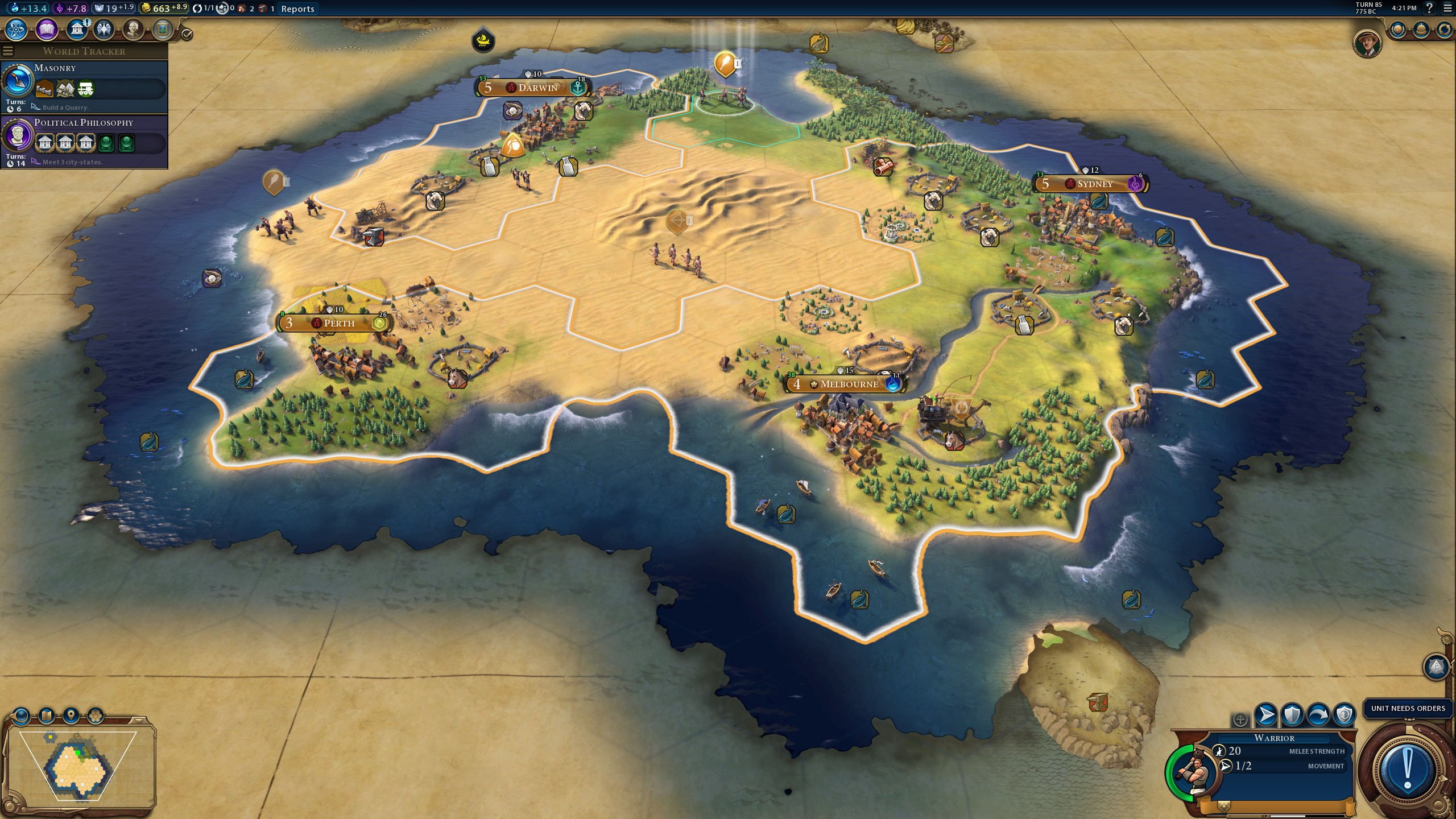 An Australian plays Australia in Civilization 6 | PC Gamer