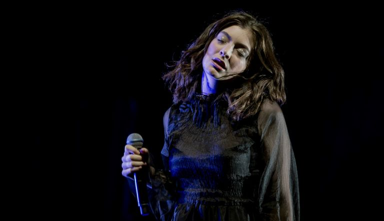 Lorde performs live on stage during her Melodrama world tour at Brighton Centre on September 30 in Brighton, ENGLAND