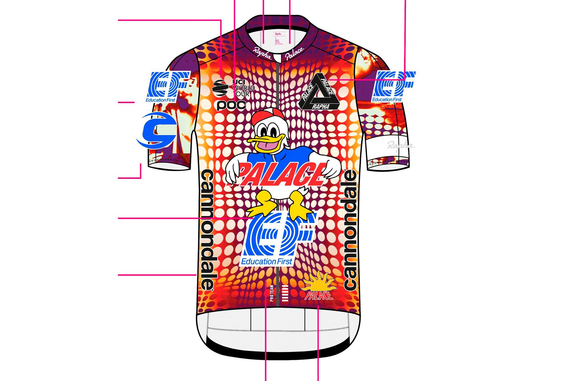 EF Pro Cycling stellt neues Rapha  und Palace Skateboard Kit für ...