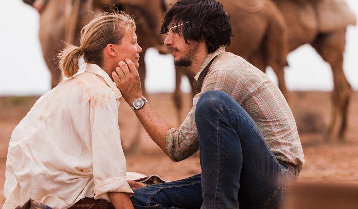Mia Wasikowska and Adam Driver in Tracks movie