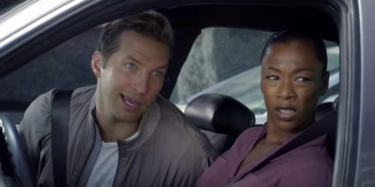 Samira Wiley as Jessica alongside Ryan Hanson in Ryan Hanson Solves Crimes on Television.