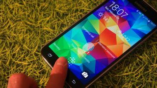 Samsung Galaxy S5 fingerprint reader