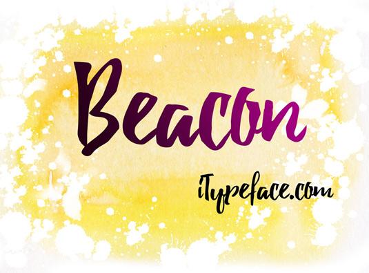 Free brush font: Beacon